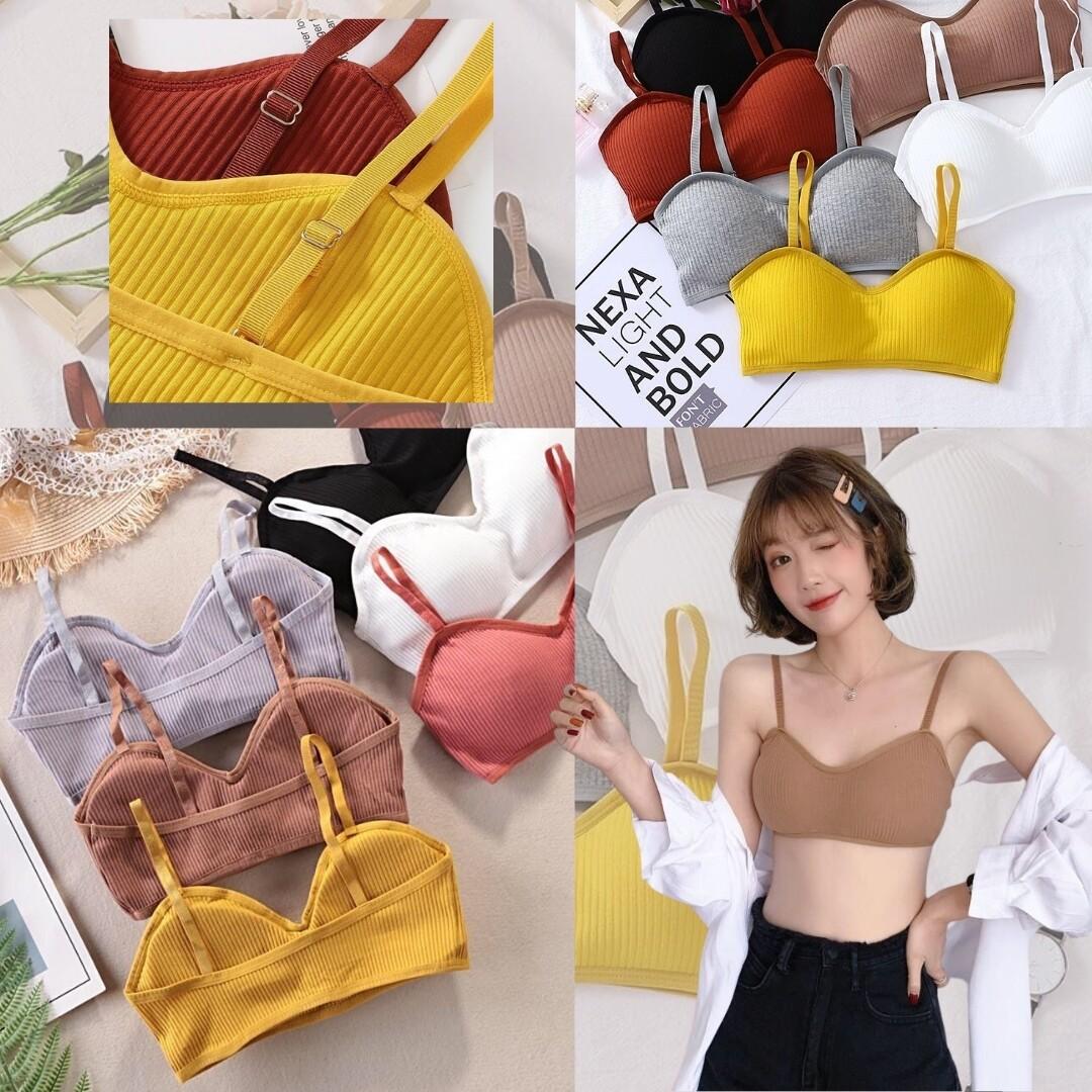 Df Home Underwear เสื้อใน บรา ชุดชั้นในหญิง สปอร์ตบรา ผ้านิ่ม ฟองน้ำนุ่ม ใส่สบาย ไม่เสียทรง เกรดพรีเมี่ยม ราคาถูกจากโรงงาน.