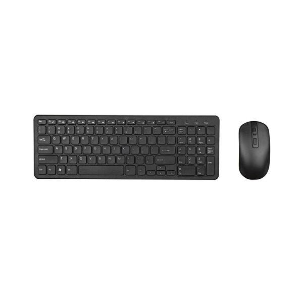 2.4G Optical Wireless Keyboard Mouse Kit Wireless Mouse Usb Receiver Combo For Macbook Pc Laptop Portable Ultra Thin Office Suit Black