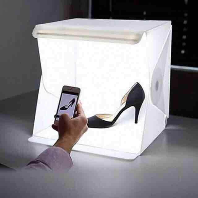 กล่องถ่ายรูป กล่องถ่ายสินค้า สีขาว มีไฟ เพิ่มยอดขาย สินค้าสวย โดดเด่น By Health Life Balance.