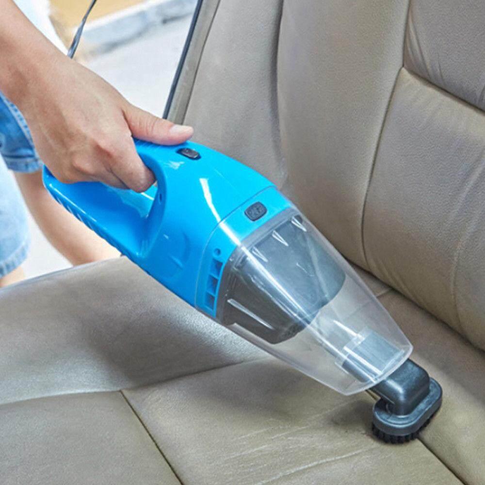แรงดูดสูงมาก 100w เครื่องดูดฝุ่นในรถยนต์ เครื่องดูดฝุ่น 12v ระบบสุญญากาศ แบบพกพา Car Vacuum Cleaner สายไฟยาว5เมตร เครื่องดูดฝุ่นในรถ(สีฟ้า) By First Scene.