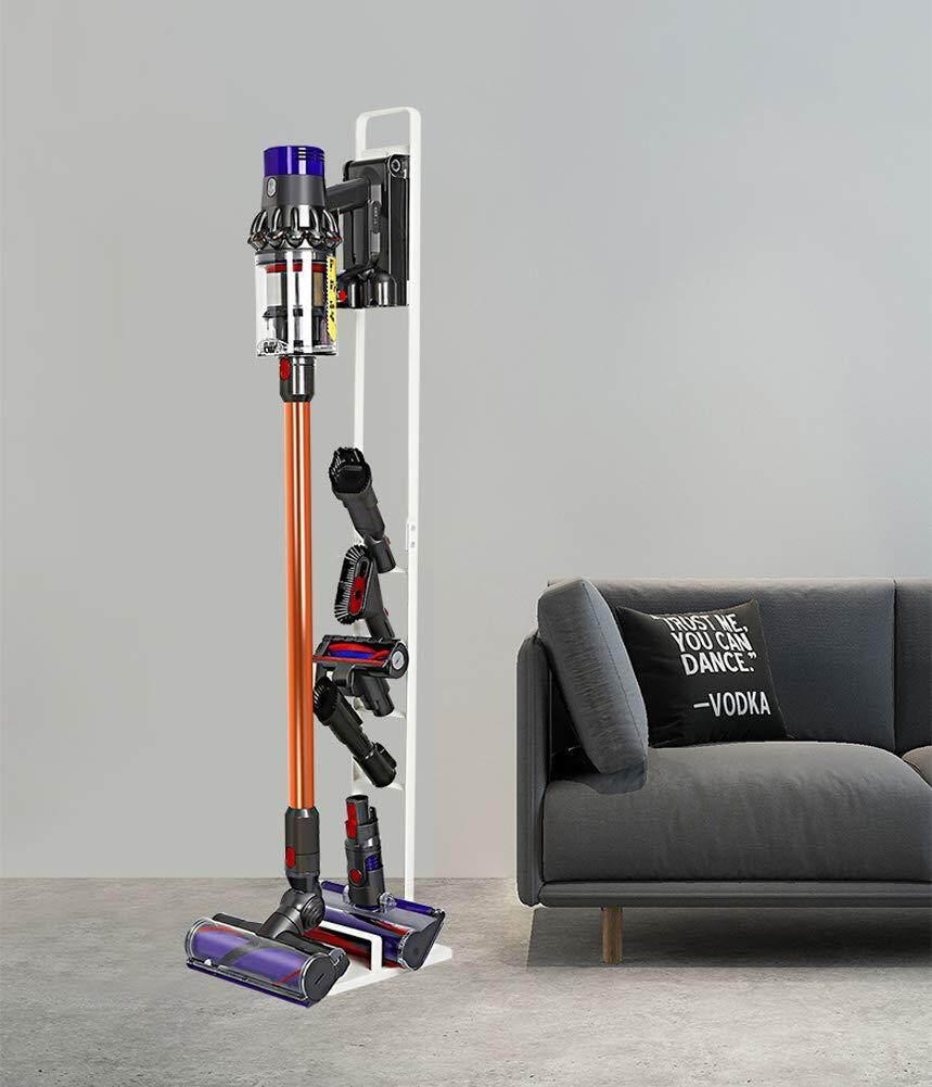 Bubm Hd03 Storage Rack สำหรับตั้งเครื่องดูดฝุ่น Dyson เเละอุปกรณ์ (white) By Gadget Promotion.