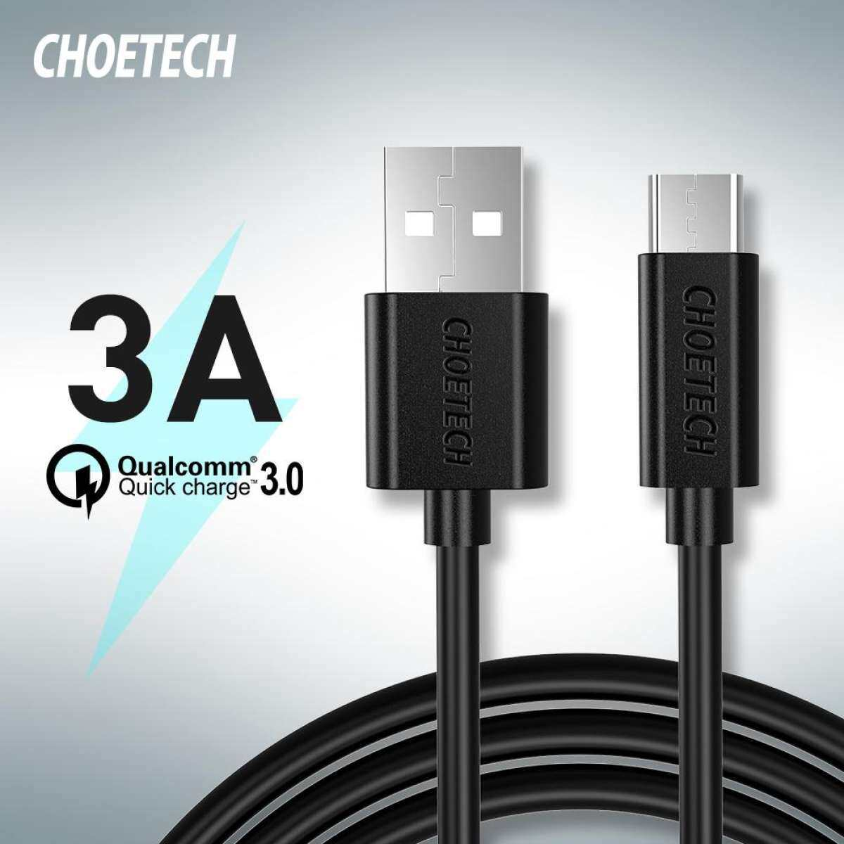 CHOETECH USB C Cable USB C Fast Charging Cable Compatible with  Macbook Air, iPad Pro, Macbook Pro, Google Pixel 3/3XL /Pixel 2 XL, Nexus 5X/6P and More