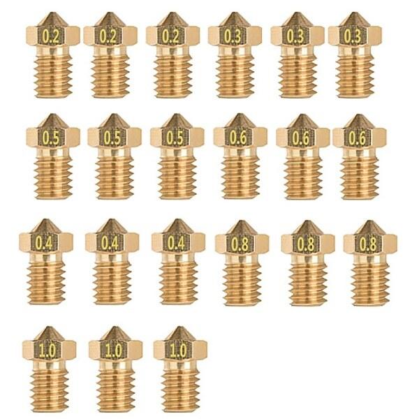Bảng giá 21 Pcs for 3D Printer ED3 Brass Nozzle 0.2/0.3/0.4/0.5/0.6/0.8/1mm M6 Thread Print Head Phong Vũ