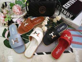 รองเท้าแตะแฟชั่น สไตล์เกาหลี ใส่ออกงาน ใส่เที่ยวได้ มี 5 สีให้เลือก ไชส์36-40-