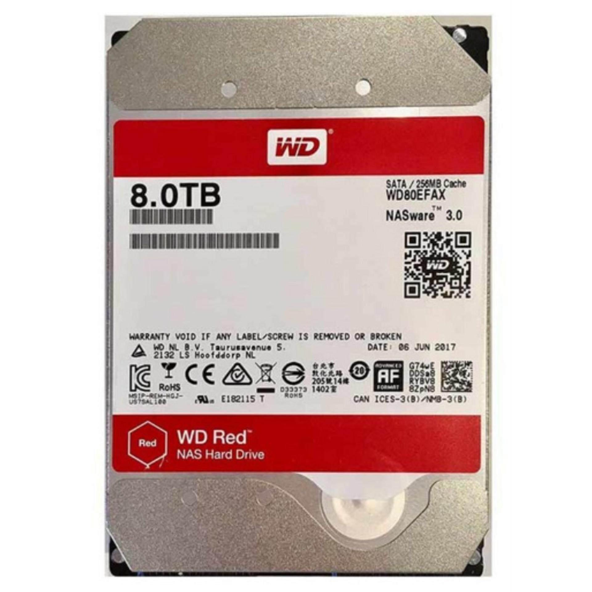 Jib 8 Tb Hdd (ฮาร์ดดิสก์แนส) Wd Red 5400rpm Sata3 (wd80efax).