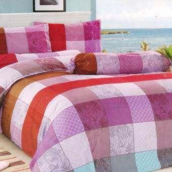 FD Premium ชุดเครื่องนอน ผ้าปูที่นอน ขนาด 6ฟุต 5ชื้น รุ่น 6AA088 ลายสกอ็ต(สีแดง/น้ำตาล/ชมพู)-