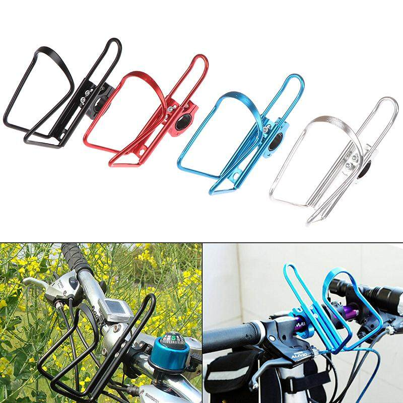 Bicycle MTB Bike Cycling Water Cup Bottle Cage Holder Rack Clamp Handlebar Mount