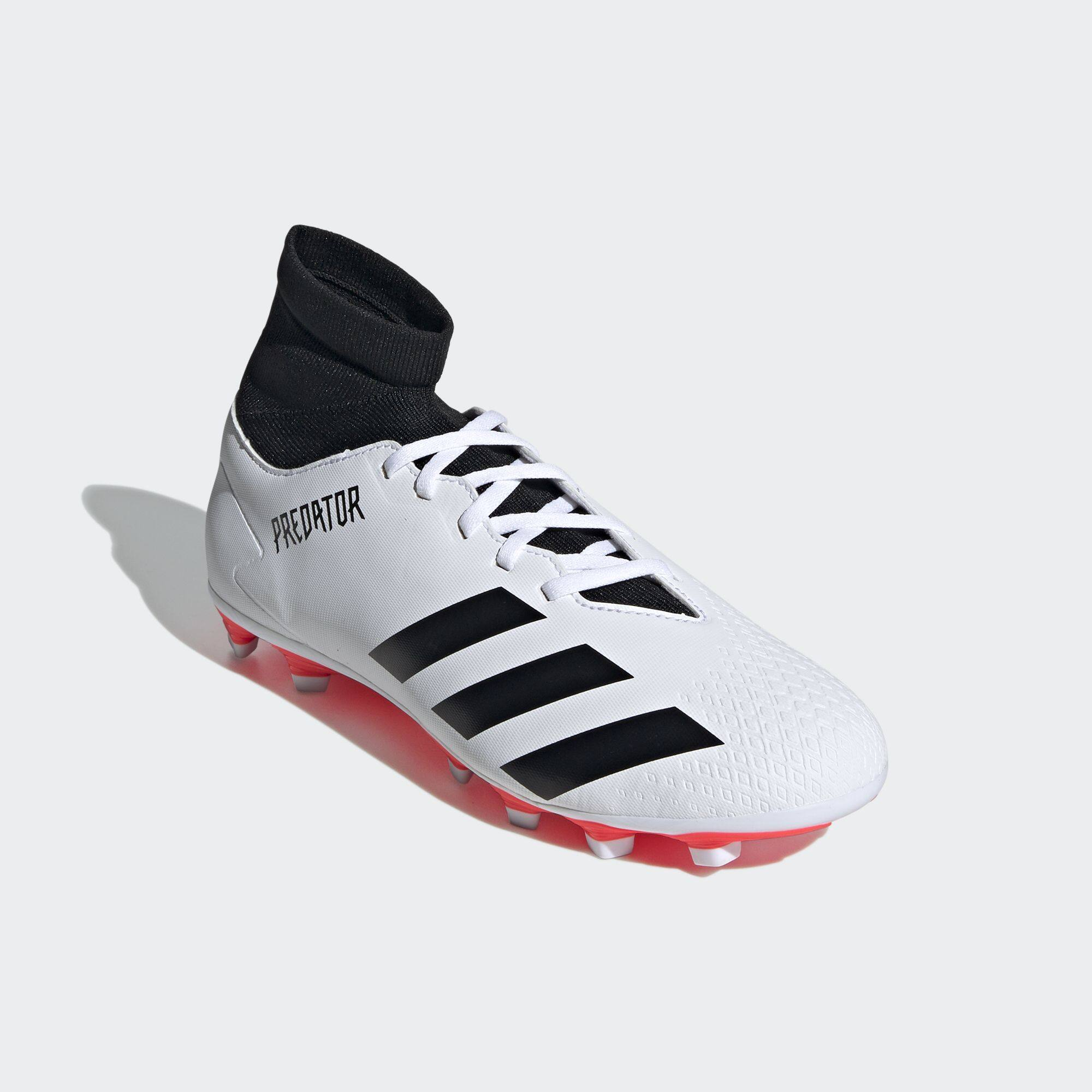 adidas FOOTBALL/SOCCER รองเท้าฟุตบอล Predator 20.4 Flexible Ground ผู้ชาย  สีขาว EG0917 | Lazada.co.th