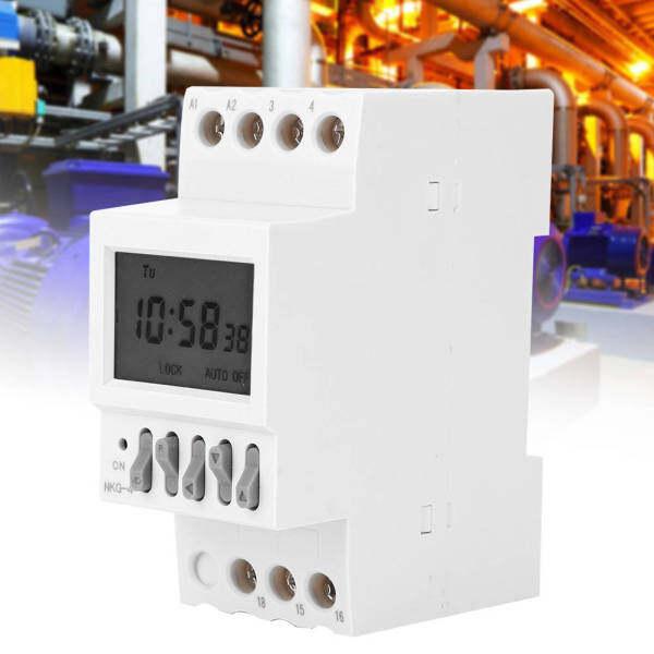 Công tắc hẹn giờ lập trình NKG-4 Công tắc điều khiển thời gian Din Rail AC220V 3A
