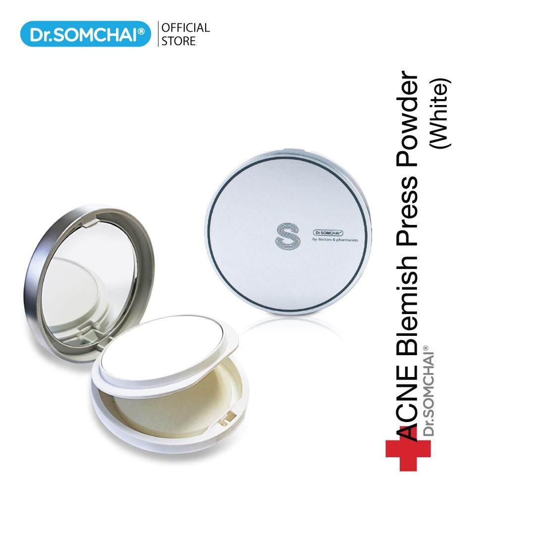 Dr.Somchai Acne Blemish Press Powder White 14 g. แป้งพัฟสิว - ฝ้า ดร.สมชาย (ขาว)