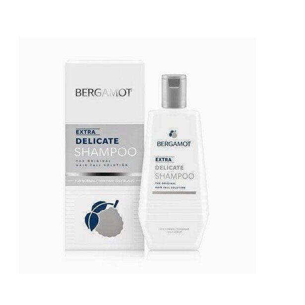 แชมพู แก้ ผมร่วง ผมเส้นเล็ก หนังศรีษะมัน Bergamot Extra Delicate Shampoo 100ml แชมพู เบอกามอท แก้ปัญหา ผมบาง คันศีรษะ หัวล้าน  Hair Loss Protect Shampoo.
