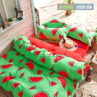 Bedding Cheap ชุดผ้าปู ผ้านวม 6 ชิ้น 6 ฟุต รุ่น FS710