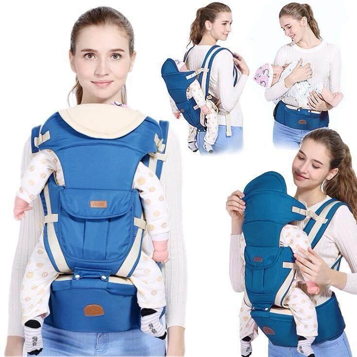 MEGA เป้อุ้มเด็ก แบบมีฐานรองนั่ง 10 in 1 Multi-function Baby Carriers MG0094(Dark Blue)