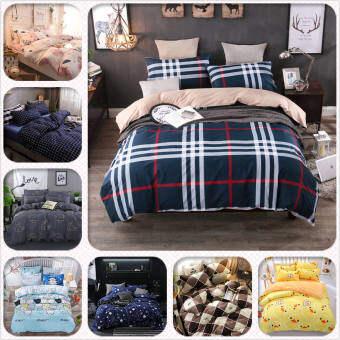 ผ้าปูที่นอน6ฟุต 5ฟุต 3.5ฟุต ชุดผ้าปูที่นอน ชุดที่นอน Fitted sheet (ลายผ้าปูเป็นลายเดียวกับผ้านวม) (สูง12นิ้ว)(ไม่รวมผ้าห่ม)