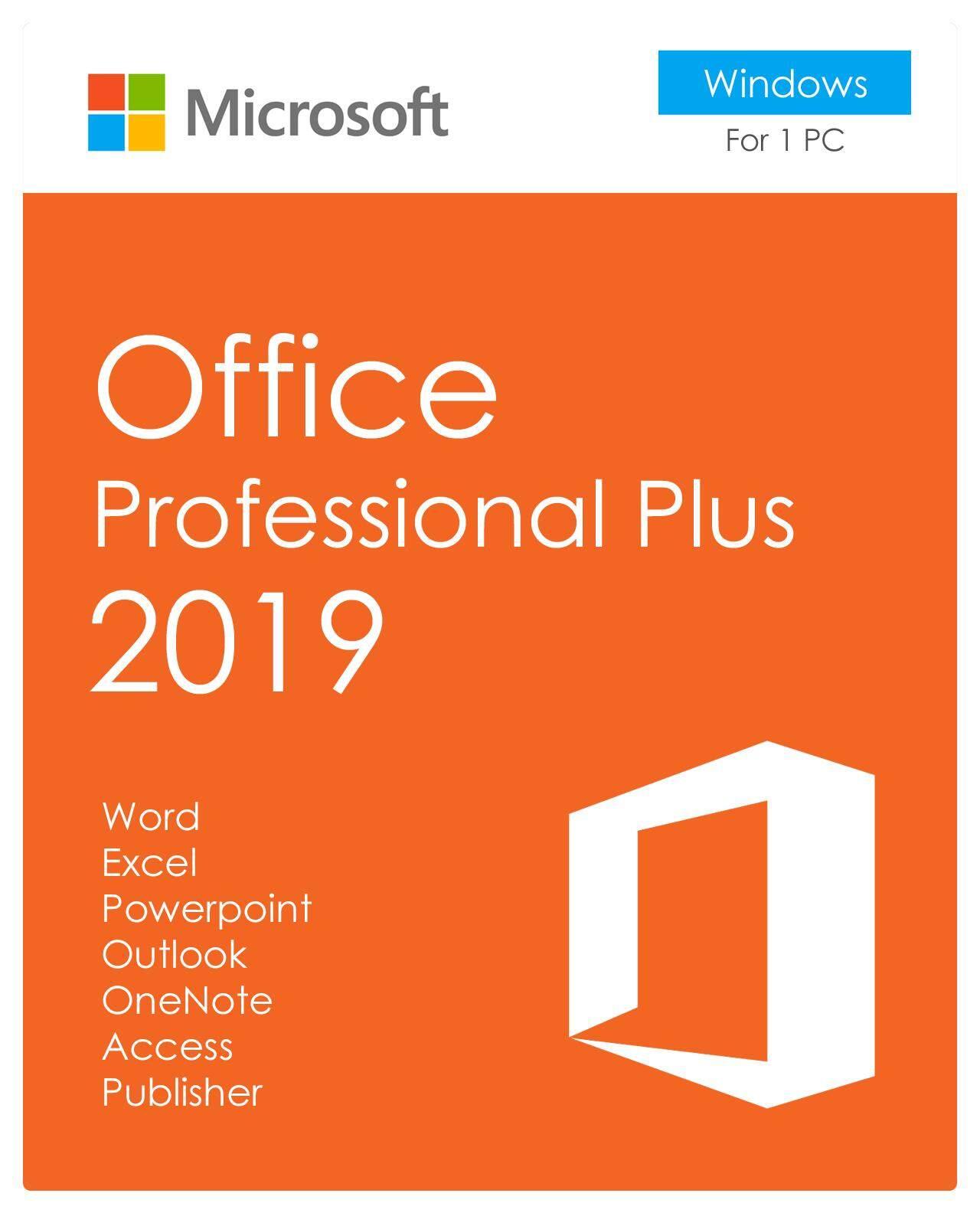 (แ ค่ส่งในแchat,ไม่ต้องจ่ายค่าส่งc) Microsoft Office 2019 / 2016 ไมโคร ซอฟท์ ออฟฟิศ Pro Plus 2019 100% ของแท้จากเว็บไซต์ ,สามารถอัปเดตตลอดเวลา 1pc 1a (วินโดว์ 10).