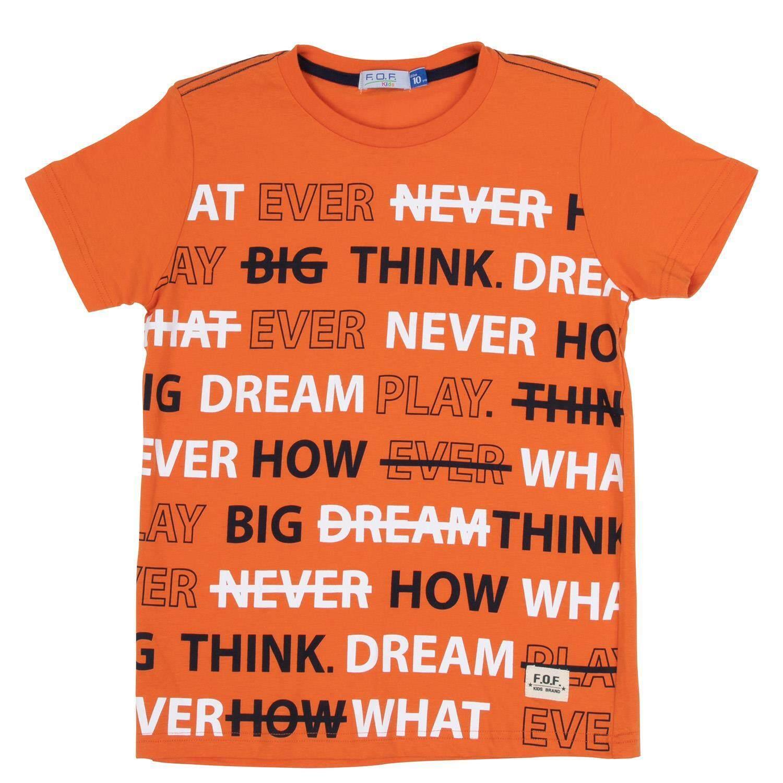 เสื้อยืดเด็กผู้ชาย รุ่น FFT108FTAE21 สีส้ม ไซส์ 14 ปี