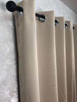 ผ้าม่าน กว้าง 1.35 ม. สูง 1.50ม. ผ้าม่านสำเร็จ ม่านสำเร็จ ผ้าม่านกันแดด ม่านกันแดด (ตาไก่) 1 ชุดมี 1-