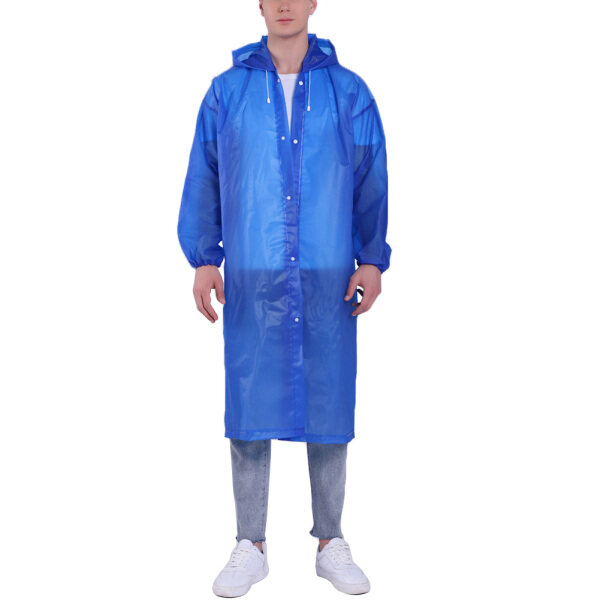 caosu® Unisex Reusable Portable Waterproof Hooded Outdoor Riding Long Raincoat Poncho