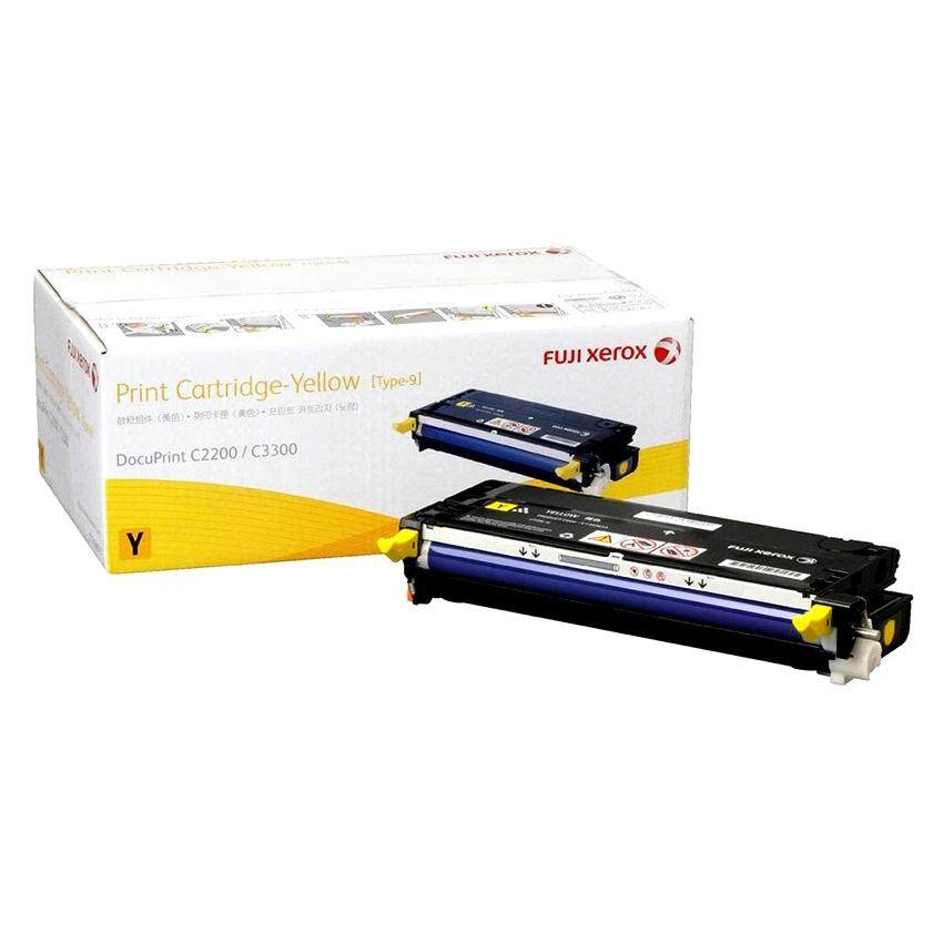 Fuji Xerox Docuprint C2200 / C3300dx Yellow Toner (9k)​ Ct350677 By Morexcellent.