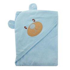 ความคิดเห็น First Wear ผ้าห่อตัวเด็ก Cotton 100 ลายหัวหมีน่ารัก สีฟ้า