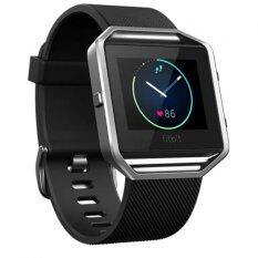 ขาย Fitbit Blaze Smart Fitness Watch ใหญ่ สีดำ เงิน ออนไลน์ Thailand