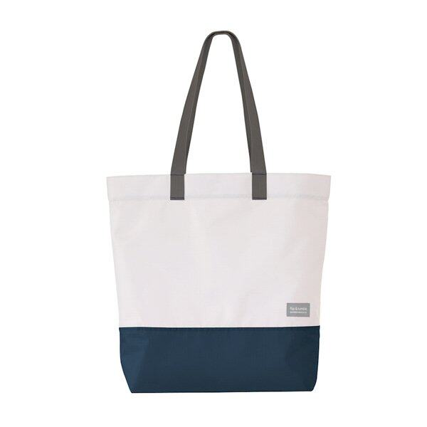 Flip&Tumble Tote Bag ( Navy/White )
