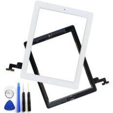 ราคา For Ipad 2 Touch Screen Glass Digitizer Assembly With 3M Adhesive Glue Sticker And Home Button Replacement White Intl ถูก