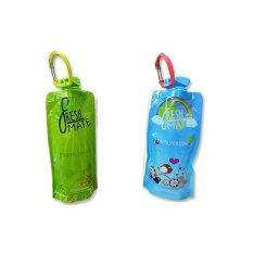 ราคา Freshmate ขวดน้ำพับได้ Travel Fresh สีเขียว Family Fresh สีฟ้า แพ็คคู่ Fresh Mate