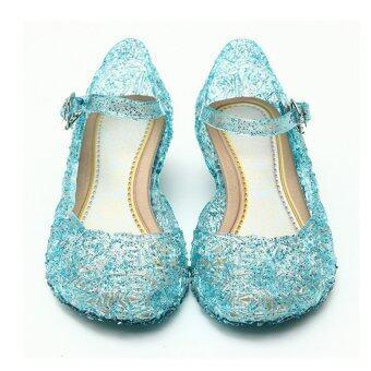 FROZEN shoes รองเท้าเจ้าหญิง รองเท้ากากเพชร รองเท้าโฟรเซ่น (สีฟ้า)