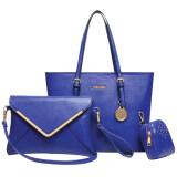 Ftshop กระเป๋าเซ็ต3ใบ กระเป๋าแฟชั่นเกาหลี กระเป๋าสตางค์ผู้หญิง กระเป๋าสะพายข้าง กระเป๋าพวงกุญแจ รุ่น 122 สีน้ำเงิน ใน สมุทรปราการ
