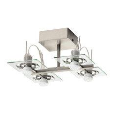 ขาย Fuga โคมไฟเพดาน ผนัง 4 ดวง Ceiling Wall Lamp 35 35 18 Cm โครเมี่ยม ราคาถูกที่สุด
