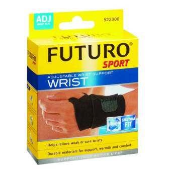 Futuro Sport Adjustable Wrist Support Wristฟูทูโร่ อุปกรณ์พยุงข้อมือแบบมีห่วงรองรับ ชนิดปรับกระชับได้ (รุ่น09033)-