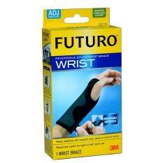 ราคา ราคาถูกที่สุด Futuro Wrist อุปกรณ์พยุงข้อมือ ปรับกระชับได้ เสริมแถบเหล็ก 1ชิ้น สีดำ