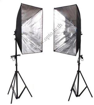 G1Dual Light Stand LG-190 + G801C Softbox E27 50x70cm + Free 135W 5500k Day Light ชุดไฟต่อเนื่อง