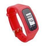 ส่วนลด G2G นาฬิกาดิจิตอลสายรัดข้อมือหน้าจอ Lcd สำหรับใส่วิ่งหรือเดิน สีแดง จำนวน 1 ชิ้น