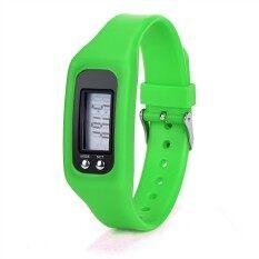 ราคา G2G นาฬิกาดิจิตอลสายรัดข้อมือหน้าจอ Lcd สำหรับใส่วิ่งหรือเดิน สีเขียว G2G เป็นต้นฉบับ