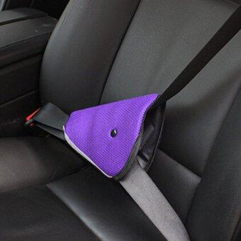 G2G ที่คาดเข็มขัดนิรภัยในรถยนต์สำหรับเด็ก สีม่วง