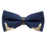 โปรโมชั่น Gadgetz หูกระต่ายขลิบทอง 2 มุม เส้นกลางดำ หูกระต่าย โบว์ไท Bow Tie รุ่น B907 ใน กรุงเทพมหานคร