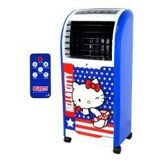 ราคา Galaxy พัดลมไอเย็น Hello Kitty พร้อมรีโมทคอนโทรล รุ่น Ab 603 สีน้ำเงิน ใหม่ ถูก
