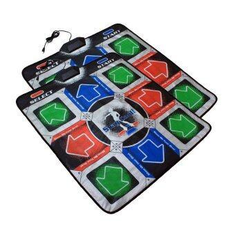GameDances แผ่นเต้นต่อคอมพิวเตอร์ แบบ 11 ปุ่ม รองรับ Pump it up ต่อคอมพิวเตอร์ด้วย USB จำนวน 2 ชุด (หลากสี)