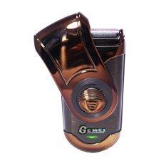 โปรโมชั่น Gemei เครื่องโกนหนวด Rechargeable Shaver Gm 9001 Brown ถูก