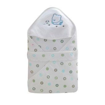Getagift ผ้าห่ม ห่อตัวทารก Bamboo Fiber - ลายจุดเขียว