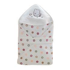 ราคา Getagift ผ้าห่ม ห่อตัวทารก Bamboo Fiber ลายจุดน้ำตาล