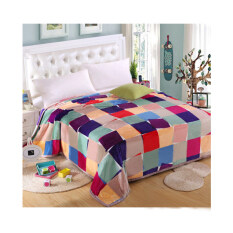 ซื้อ Getagift ผ้าห่มนาโน Colorful Sqaure ขนาด 180X200ซม ใน Thailand