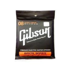 ซื้อ Gibson สายกีตาร์ไฟฟ้า รุ่น Brite Wires 08 38 1ชุด นิ่ม เส้นเล็ก เสียงใส ไม่ขาดง่าย 6 เส้น Gibson ถูก