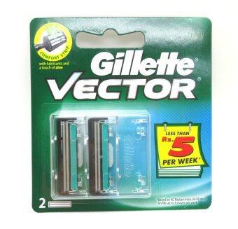 GILLETTE ใบมีดเวคเตอร์ แผง 2 ใบ