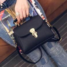 ขาย Girly Bags กระเป๋าถือ พร้อมสายสะพาย กระเป๋าสะพาย แบบมีหูหิ้ว รุ่น Gb 063 สีดำ ถูก