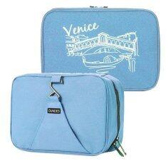 ซื้อ Gjp กระเป๋าใส่อุปกรณ์อาบน้ำ เครื่องสำอางค์ อเนกประสงค์ Dark Blue