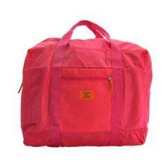 Gjp กระเป๋าพับเก็บได้ ใบใหญ่ ล็อกกับกระเป๋าเดินทางได้ (hot Pink) By Meedee 168.