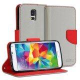 ขาย ซื้อ Gmyle เคสฝาพับ Samsung Galaxy S5 สีเทา สีแดง กรุงเทพมหานคร